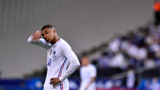 Mbappé, durante un partido con Francia. (Getty)