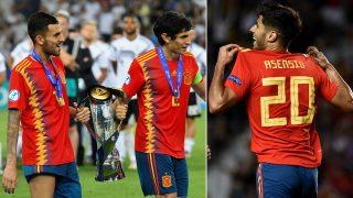 Ceballos, Vallejo y Asensio (AFP y Getty)