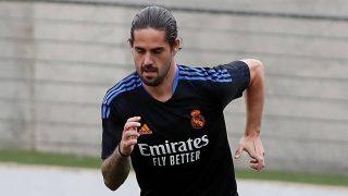 Isco Alarcón, durante el entrenamiento del Real Madrid (Realmadrid.com).