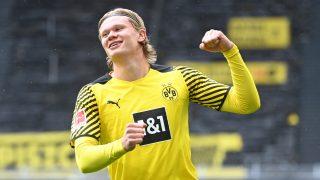 Erling Haaland celebra un gol con el Borussia Dortmund. (AFP)
