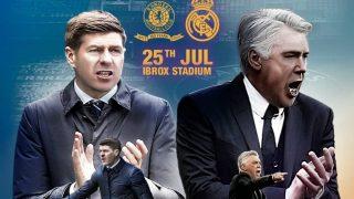 Cartel del partido de pretemporada entre el Real Madrid y el Rangers. (realmadrid.com)