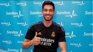 Diego Altube, después del reconocimiento médico del comienzo de la presente pretemporada del Real Madrid. (@diego_altube)