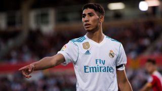 Achraf Hakimi, en su etapa en el Real Madrid. (Getty)