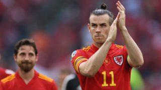 Gareth Bale, en el último partido de la Eurocopa con Gales. (AFP)