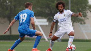 Marcelo, durante el partido ante el Fuenlabrada (Realmadrid.com)
