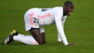 Mendy, durante un partido del Real Madrid. (AFP)