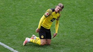 Haaland, en un partido del Borussia Dortmund