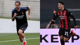 Isco y Brahim, dos de los objetivos del Milan.