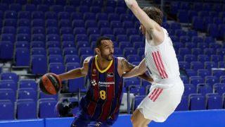 Hanga, en un partido contra el Real Madrid. (ACB Photo)