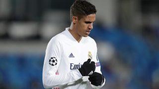 Varane, durante un partido del Real Madrid. (Getty)