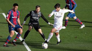 Asensio, en un partido contra el Levante. (Getty)