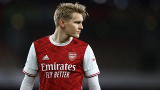 Martin Ödegaard, en un partido con el Arsenal. (Getty)