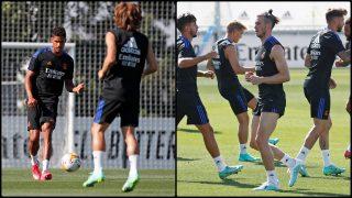 Bale y Varane vuelven con el grupo. (realmadrid.com)
