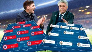 Rangers FC y Real Madrid se enfrentan en Ibrox Park.