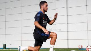 Eden Hazard, durante el primer entrenamiento con el Real Madrid (Realmadrid.com).