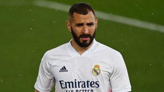 Karim Benzema, durante un partido del Real Madrid (AFP).
