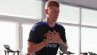 Toni Kroos, durante un entrenamiento esta pretemporada. (realmadrid.com)