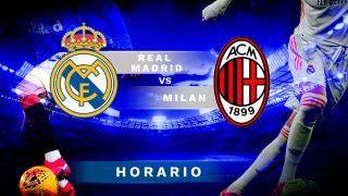 Real Madrid – Milan: horario y canal de televisión.
