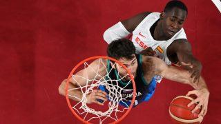 Garuba, en el España-Eslovenia de los Juegos de Tokio. (AFP)