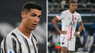 Cristiano Ronaldo y Kylian Mbappé (Getty y AFP)