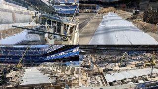 El Estadio Santiago Bernabéu, a falta de un mes para el encuentro ante el Celta. (nuevoestadiobernabeu.com)