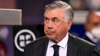 Ancelotti, durante un partido del Real Madrid. (AFP)