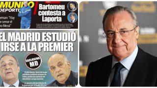 El Real Madrid desmintió que tenga la menor intención de abandonar la Liga.