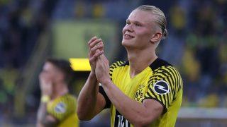 Erling Haaland, durante un partido del Dortmund (Getty).