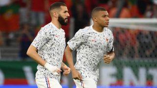 Benzema y Mbappé, en la Eurocopa. (AFP)
