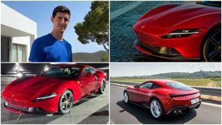 Courtois y su Ferrari Roma.