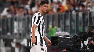 Cristiano Ronaldo, en el último amistoso de la Juventus de Turín (AFP)