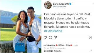 La respuesta de Georgina a Ancelotti