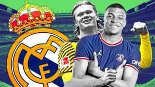 Mbappé y Haaland, objetivos del Madrid.