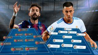Levante y Real Madrid se enfrentan en el Ciudad de Valencia.