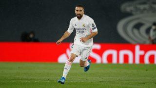 Dani Carvajal, durante un partido del pasado curso con el Real Madrid (Getty).