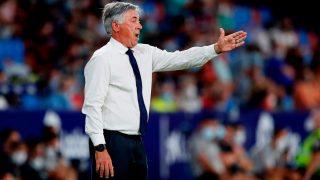 Ancelotti, durante un partido con el Real Madrid. (EFE)