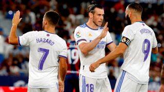 Bale celebra su gol contra el Levante. (EFE)