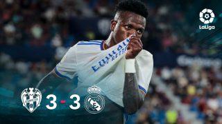 Levante y Real Madrid empataron en el Ciudad de Valencia. (AFP)
