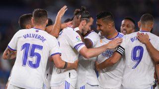 Los jugadores del Real Madrid celebran un gol de Bale (Getty).
