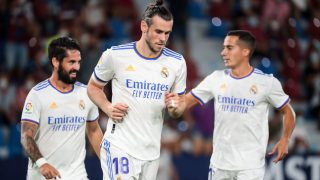 Bale, Isco y Lucas, durante un partido del Real Madrid. (AFP)