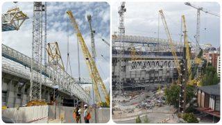 El estadio Santiago Bernabéu, listo para la nueva temporada.