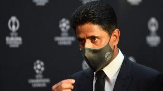 Al Khelaifi, durante un acto de la UEFA. (AFP)