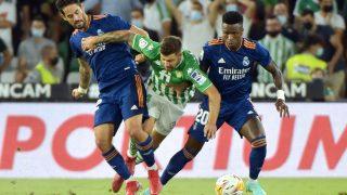 Una acción del Betis – Real Madrid. (AFP)