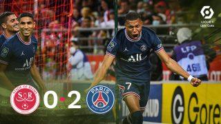 Kylian Mbappé le da la victoria al PSG con un doblete ante el Reims.