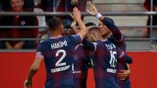 Mbappé celebra un gol. (AFP)