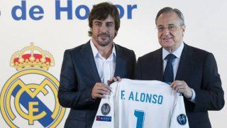 Fernando Alonso es un gran aficionado al Real Madrid y socio de honor.