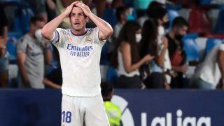 Gareth Bale, durante un partido con el Real Madrid (AFP)