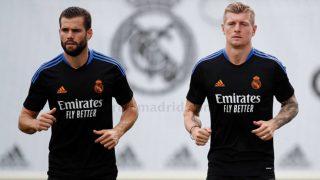 Kroos y Nacho, en Valdebebas. (realmadrid.com)