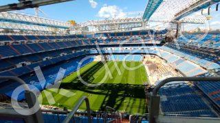 Así luce el estadio Santiago Bernabéu.