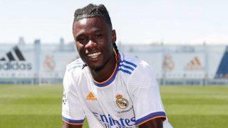 Camavinga, en su presentación (Real Madrid)